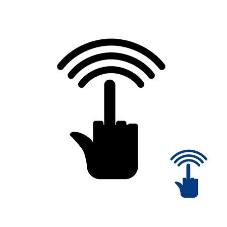 wifi access: Wi fi fuck. Wireless transmission for bullies. Remote access is being sent. antisocial Wi-fi network. Internet bad people. Wifi Thumbs up icon. Rough computer symbol