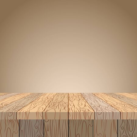 table surface: Wooden table. Wooden surface. Wood texture. Planks of wood in perspective.