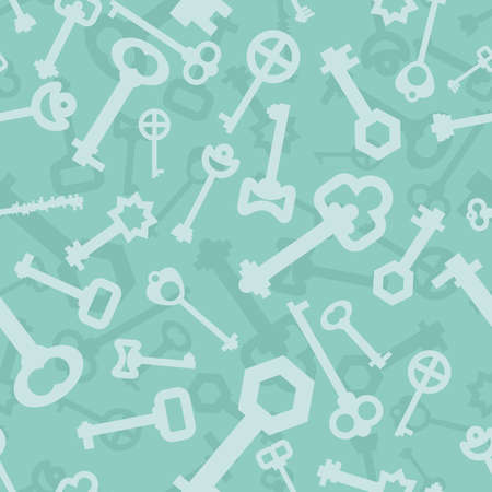latchkey: Old key seamless pattern. Lot vintage key from lock. Retro Key door ornament. Texture to fabric.