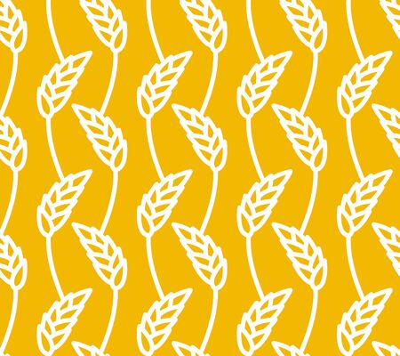 agro: Wheat seamless pattern. Yellow spikelets ornament. Rye texture. Agro economic culture texture