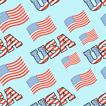 patriotic background: USA patriotic seamless pattern. American flag texture. Background of State symbol of  country,  United State of America. Ornament for national fabric