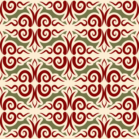 patterning: Kazakh pattern. Traditional national background of Kazakhstan. Texture ornament peoples of Central Asia. Ethnic national pattern for fabrics Illustration