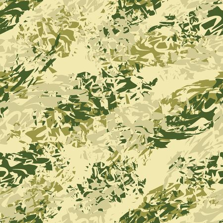hunters: Military texture. Army seamless pattern. Ornament for soldiers clothes. Military green pattern. Splatter brush. Hacks ornament. Texture for fabrics for soldiers and hunters