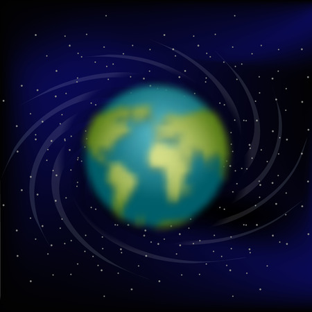 earth from space: Earth in space. Black space. Star and planet Earth Illustration