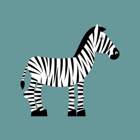 gazing: Zebra. Wild animals of Africa. Striped zebra. Zebra isolated