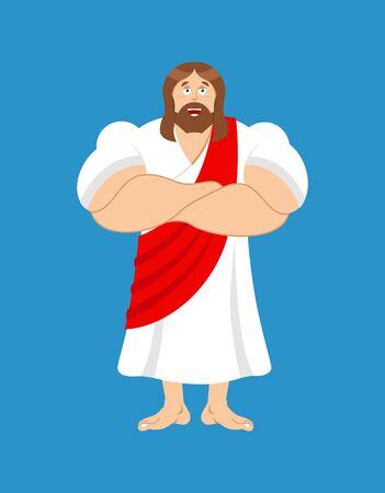 jezus: Silne Jezus. Jezus Chrystus jest potężny. biblijna postać sportowca i sportowca