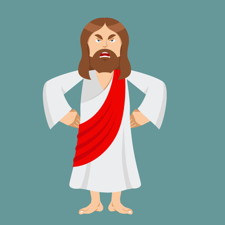 rage: Angry Jesus. Jesus is not satisfied. Angered by Jesus Christ. Gods son in rage. Biblical character