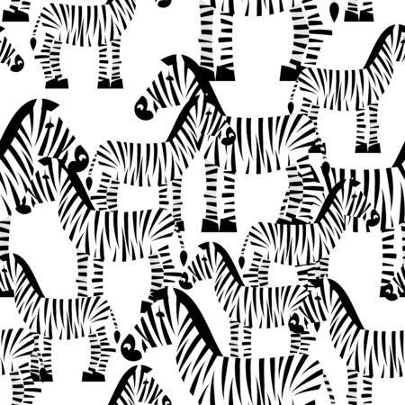 animal texture: Zebra seamless pattern. Savannah Animal ornament. Wild animal texture. Striped white animal zebra on white background.ornament for kids fabric