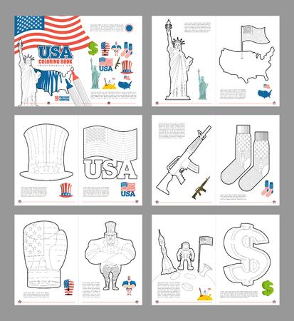 Libro Para Colorear EE.UU.. Pattic Libro Para Colorear. Símbolos ...