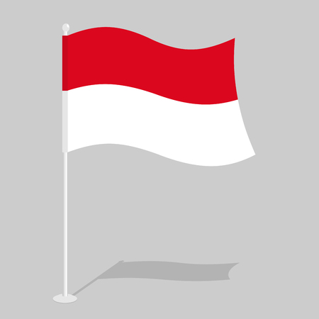 national flag indonesian flag: Indonesia Flag. Official national symbol of Republic of Indonesia. Traditional Indonesian flag emerging Asian state