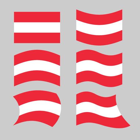 austrian: Austria flag. Set of flags o Austrian Republic in various forms. Developing Austrian flag European state Illustration