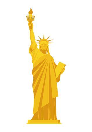 liberty: Golden Statue of Liberty.