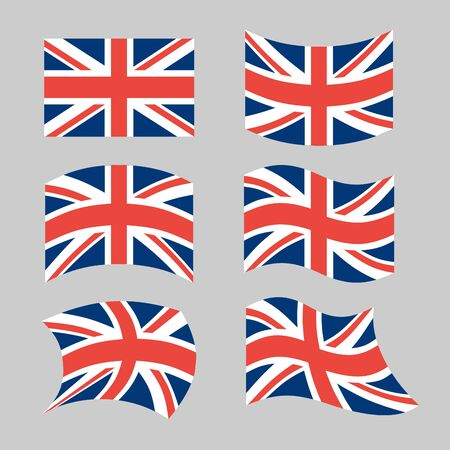 great britain flag: Great Britain Flag. Set national flag of British state. State symbols of Great Britain and Northern Ireland, United Kingdom Illustration