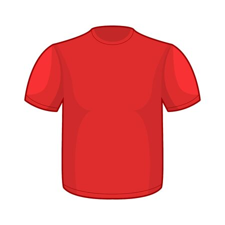 tshirt template: Red T-shirt template. Empty clothes for your design Illustration