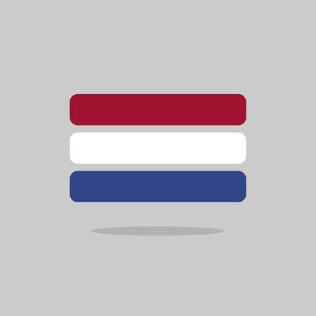 unitary: Netherlands flag state symbol stylized geometric elements