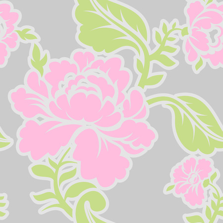 Russian traditional floral pattern. National ornament Khokhloma. Roses and leaves texture. Retro folk flower background