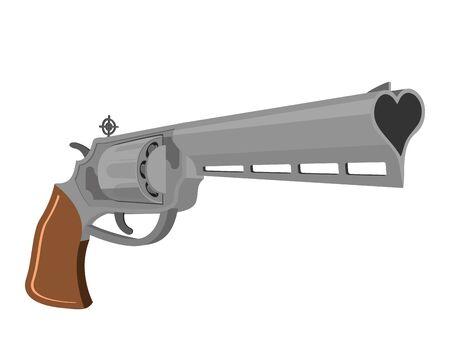 magnum: Love Gun. Weapons for shooting kisses. Magnum heart