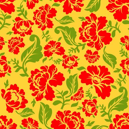 vintage ornament: Vector vintage floral seamless pattern element. seamless floral background. Russian traditional ornament. Illustration