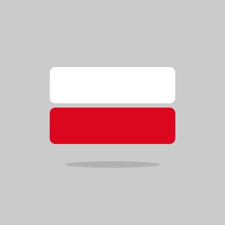 poland flag: Poland flag state symbol stylized geometric elements Illustration