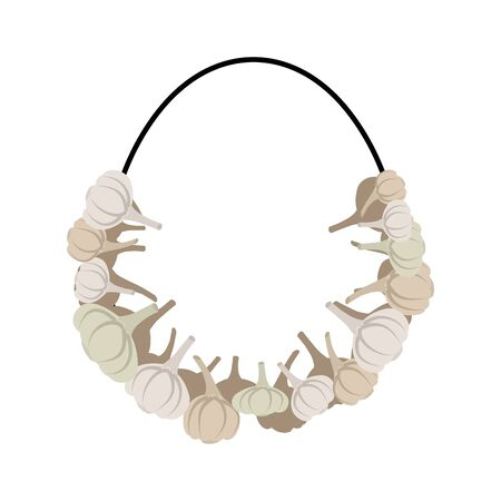 smell: Necklace of garlic. Beads against vampire. garlic smell