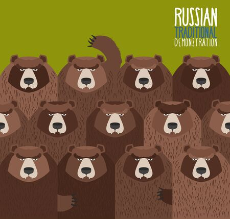 came: Russian national demonstration.  Bears came out on strike.
