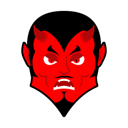 underworld: Evil Devil. Angered by Satan. Red Demon furious. Angry Lucifer. prince of darkness and underworld. Religious and mythological character, supreme spirit of evil. Diablo Lord of Hell