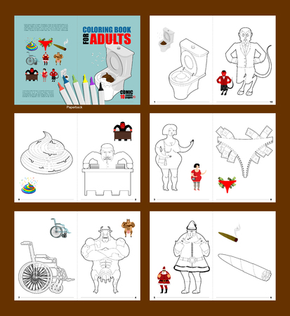 Adult Coloring Book. Humor Drawing Major Coloring. Prostitute ...