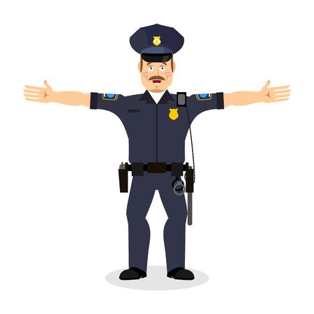 constable: Good friendly cop. happy Policeman. Funny Face Constable. merry officer police