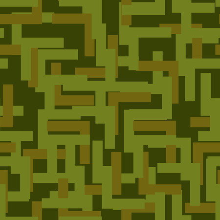 hunters: Military seamless pattern. Army abstract texture. camouflage ornament for soldiers. Green soldiery background. war khaki for hunters and troops Illustration