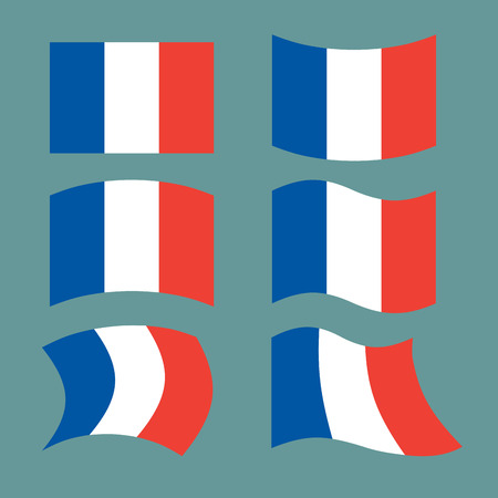 all european flags: Flag of France. Set national flag of French state. State symbol of country