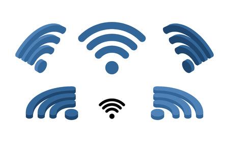 Wifi sign isometric.