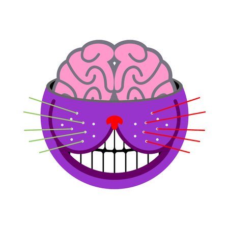 cheshire cat: Cheshire Cat. Fantastic pet. Magic of animal tales Alice in Wonderland. Abstract beast