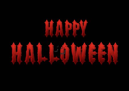 Happy Halloween emblem. Gothic bloody letters.