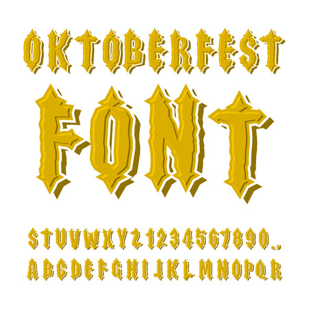 gothic letters: Oktoberfest font. Ancient Gothic alphabet. Vintage typography. Old letters. ABC for national holiday in Germany