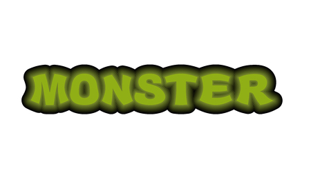 horrific: Monster typography. Scary green letters.