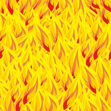 flamy: Fire seamless pattern. flames background. Flame texture. Hot yellow flamy ornament. fiery hell Illustration