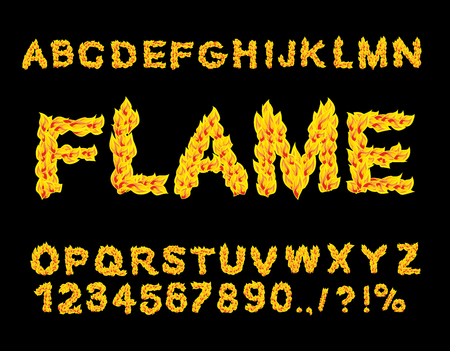 burning alphabet: Flame Alphabet. Fire font. Fiery letters. Burning ABC. Hot typography. blaze lettring
