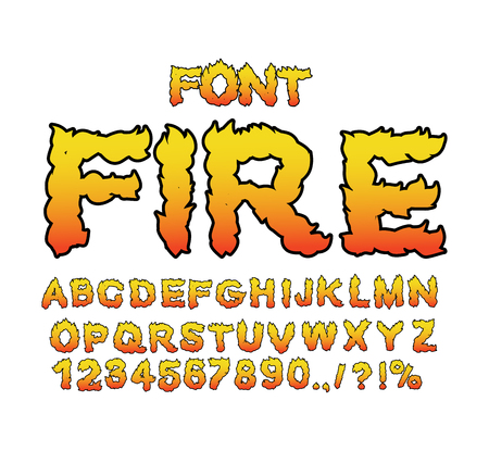 burning alphabet: Fire font. Flame ABC. Fiery letters. Burning alphabet. Hot typography. blaze lettring