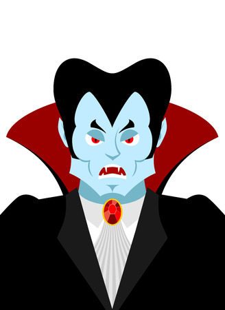 tailcoat: Dracula vampire lord portrait. Horrible ferocious character. Illustration for Halloween