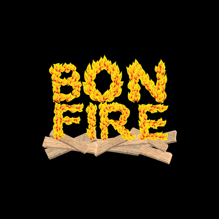 flame letters: Bonfire typography. Fire letters. Burning Boards. Flame lettering