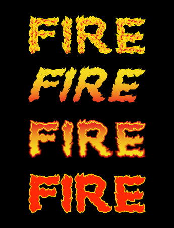 pyro: Fire text.Flame typography. Burning letters. fiery lettering