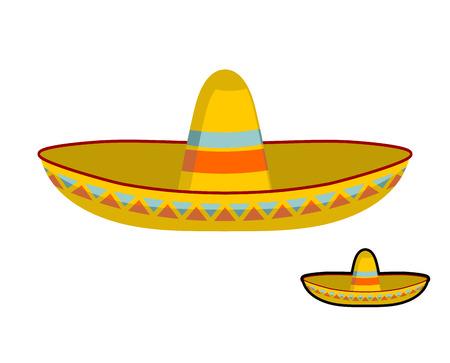 sombrero de charro: Sombrero aislado. ornamento del sombrero mexicano colorido. Nacional tapa de México