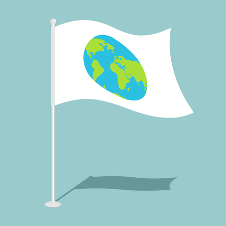 national symbol: Flag earth. Official national symbol of planet. Traditional paced flag galaxy