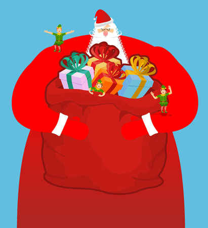 1,072 Sack Full Of Gift Stock Vector Illustration And Royalty Free ...