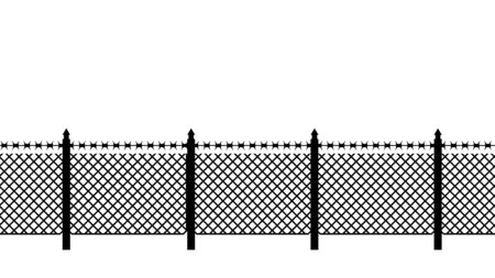imprison: Boundary fence with barbed wire. Border Protection. Protections