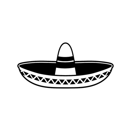 sombrero de charro: Sombrero icono plana. sombrero Nacional de México. Gorra en México Vectores
