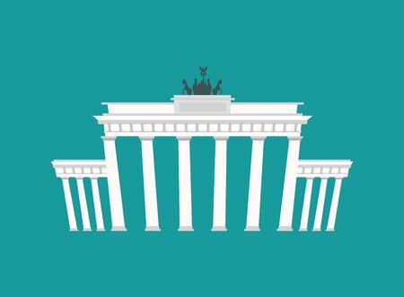 Brandenburger Tor, Landmark Duitsland. Historische architectuur gebouw in Berlijn