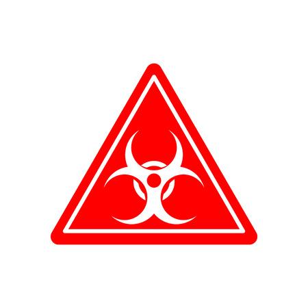 señal de peligro biológico. Advertencia de peligro de radiación. la contaminación viral de la señal de peligro