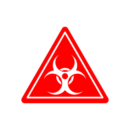 signe Biohazard. Attention risque d'irradiation. Panneau d'avertissement pollution virale