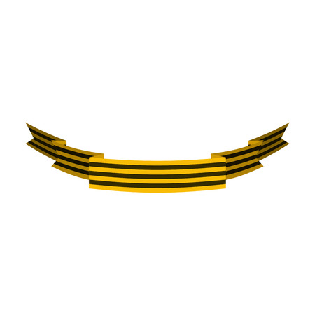 George Ribbon. Symbol victory. May 9 holiday in Russian. tradition soldiers sign Illustration